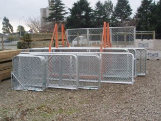 Galvanised Mesh Gates