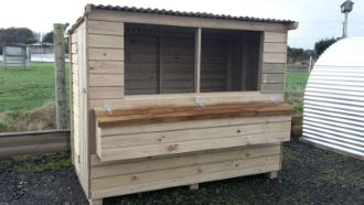 Hen House made with Weather Board Cladding